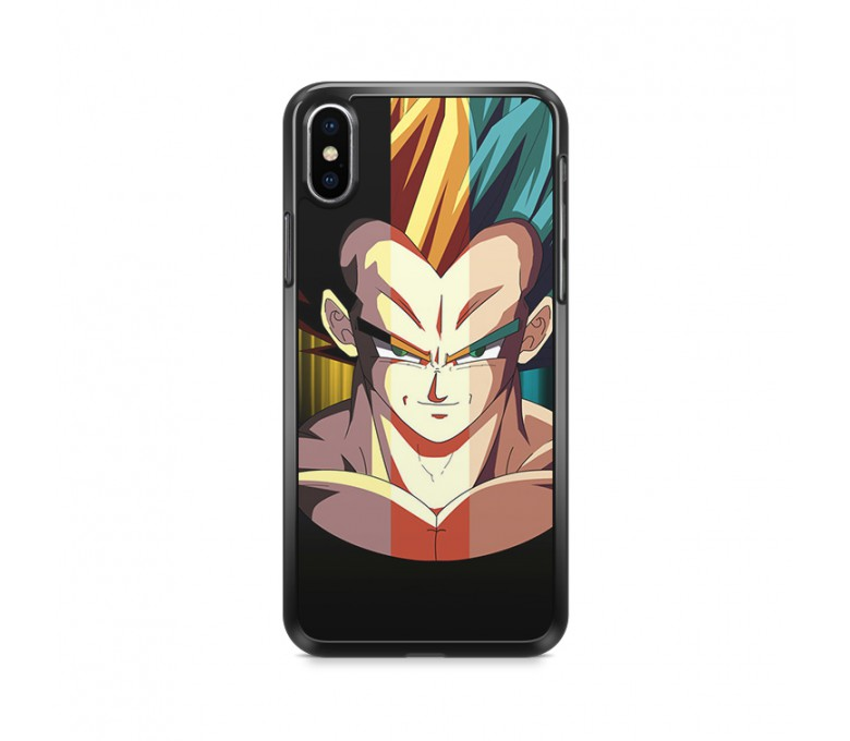 Coque iPhone X avec Vegeta en 3 transformations.